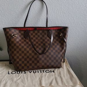 Authentic Louis Vuitton Neverfull MM Tote.